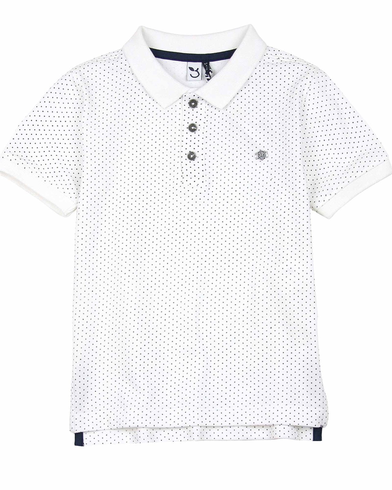 Sizes 4-12 3 Pommes Boys Pattern Printed Shirt