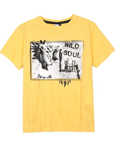 3Pommes Boy's T-shirt with Tiger Print Wild Soul