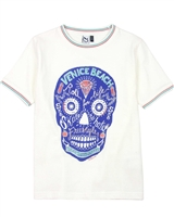 3Pommes Boy's T-shirt with Skull Print Colour Rider