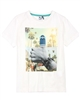 3Pommes Boy's T-shirt with Beach Print Colour Rider