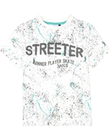 3Pommes Boy's T-shirt in Splash Print Colour Rider