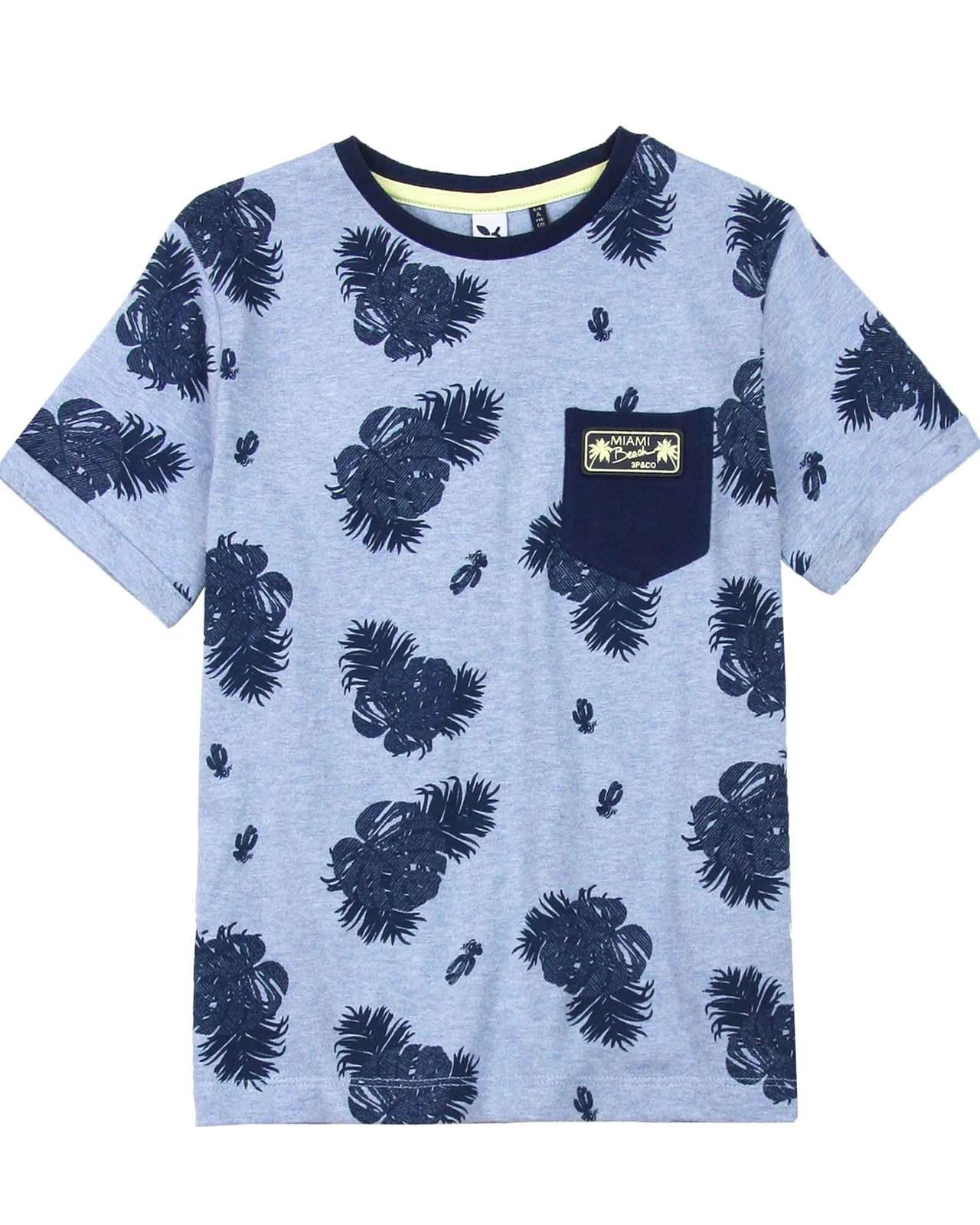 90d89b8b3 3POMMES Boy's T-shirt with Pocket Miami Vice, Sizes 4-12