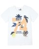 3Pommes Boy's T-shirt with Number Print Miami Vice