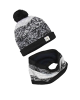 3Pommes Boys Hat with Pompom and Snood Set