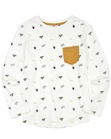 3Pommes Boys Printed T-shirt with Chest Pocket