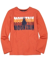 3Pommes Boys T-shirt with Mountain Print