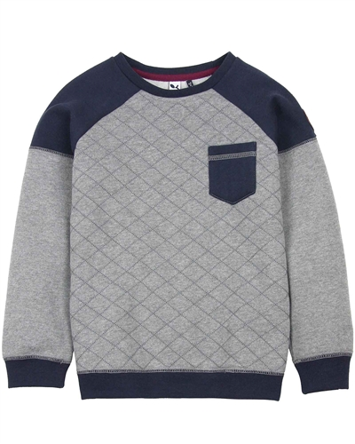 3Pommes Boys Quilted Sweatshirt