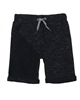 3Pommes Boy's Black Melee Terry Shorts