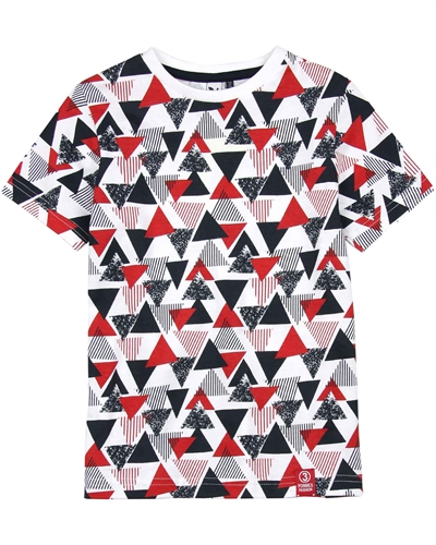 3Pommes Boy's T-shirt in Triangle Print