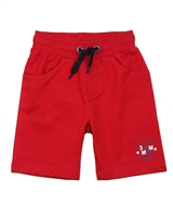 3Pommes Boy's Red Terry  Bermuda Shorts