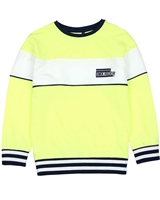 3Pommes Boy's Striped Terry Sweatshirt