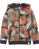 3Pommes Boys Hoodie in Tropical Leaves Print