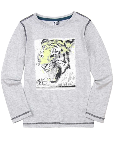 3Pommes Boys T-shirt with Tiger Print