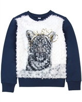 3Pommes Sweatshirt with Furry Front