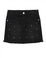 3Pommes Star Studded Denim Skirt