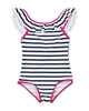 3Pommes Striped One-piece Swimsuit