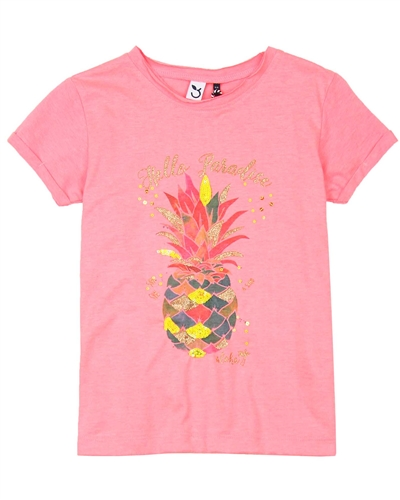 3Pommes T-shirt with Pineapple Print