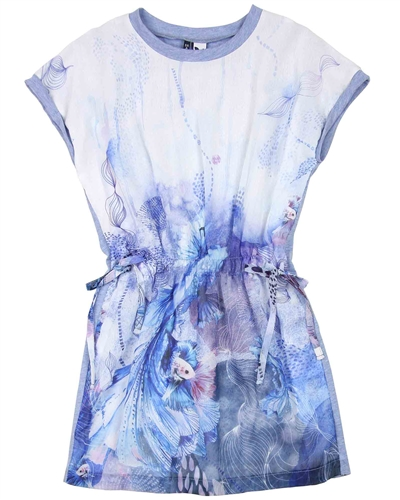 3Pommes Dress with Sea-life Print