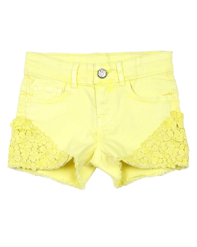 3Pommes Twill Shorts with Guipure