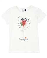 3Pommes T-shirt with Rose Print