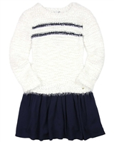 3Pommes Two-in-one Look Sweater Dress