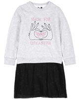3Pommes Girls Sweatshirt and Plisse Tulle Dress
