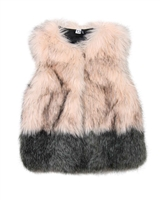 3Pommes Two Colour-way Faux Fur Vest