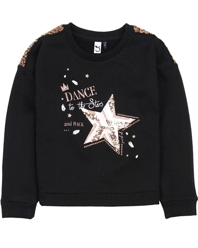 3Pommes Sweatshirt with Star Appliqe