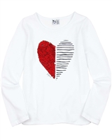 3Pommes T-shirt with Sequin Heart