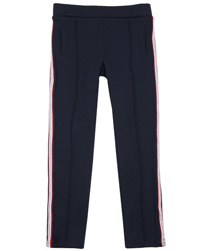 3Pommes Ponte Pants with Side Stripes