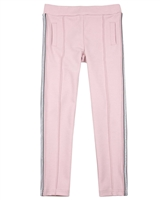 3Pommes Girls Ponte Pants with Side Stripes