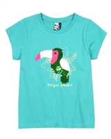 3Pommes T-shirt with Sequinned Toucan