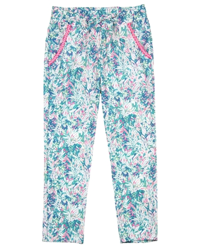 3Pommes Summer Pants in Tropical Print