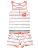3Pommes Sporty Striped Romper