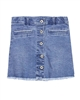 3Pommes Button Front Denim Mini Skirt
