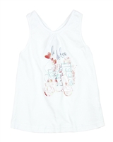 3Pommes Tank Top with Gathered Back