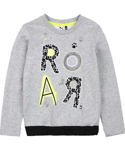 3Pommes Girls Sweatshirt with Printed Front