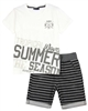 Quimby Boys T-shirt and Striped Terry Shorts Set