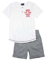Quimby Boys Henley T-shirt and Shorts Set