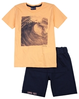 Quimby Boys Ocean Print T-shirt and Terry Shorts Set