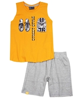 Quimby Boys Sleeveless T-shirt and Terry Shorts Set