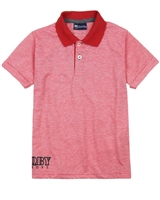 Quimby Boys Polo Shirt in Red