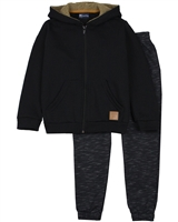 Quimby Boys Hooded Sweatshirt and Pants in Black