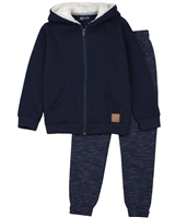 Quimby Boys Hooded Sweatshirt and Pants in Navy