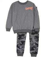 Quimby Boys Sweatshirt and Camo Print Pants Set