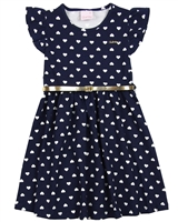 Quimby Girls Dress in Hearts Print