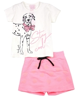 Quimby Girls T-shirt and Terry Skorts Set