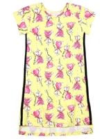 Quimby Girls Jersey Dress in Candy Print