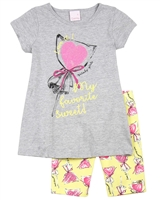 Quimby Girls Tunic and Biker Shorts Set in Candy Print