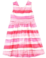 Quimby Girls Striped Satin Dress